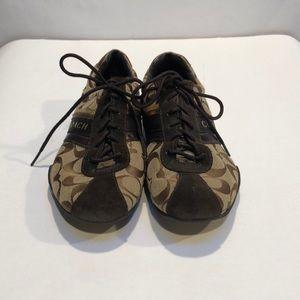 Authentic brown coach shoes